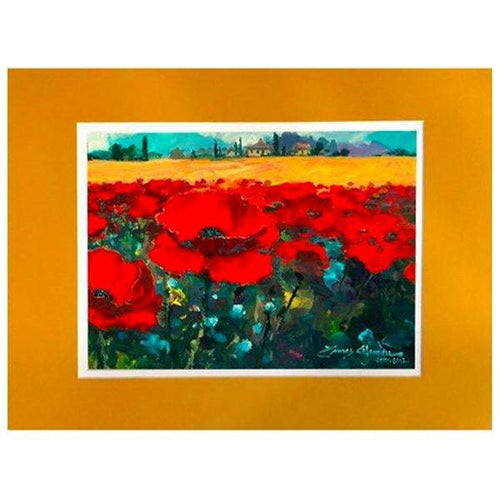 Poppies On Provence by James Coleman (matted print)