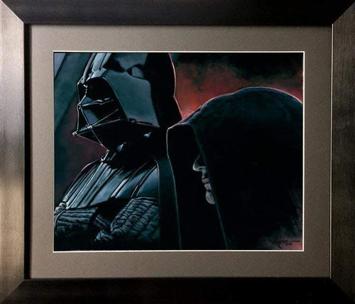 Vader and the Emperor by Rodel Gonzalez (framed fine art on paper), Star Wars