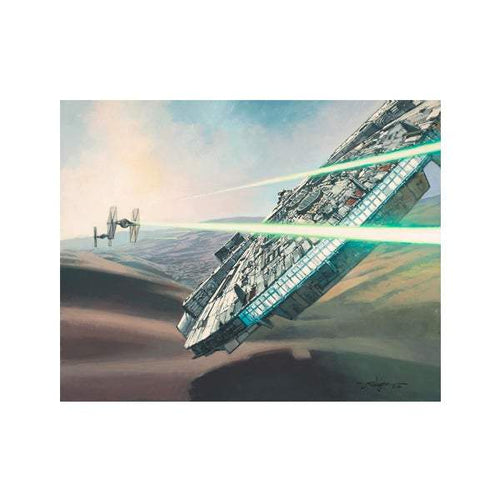 Falcon Chase by Rodel Gonzalez (wrapped canvas collectible), Star Wars