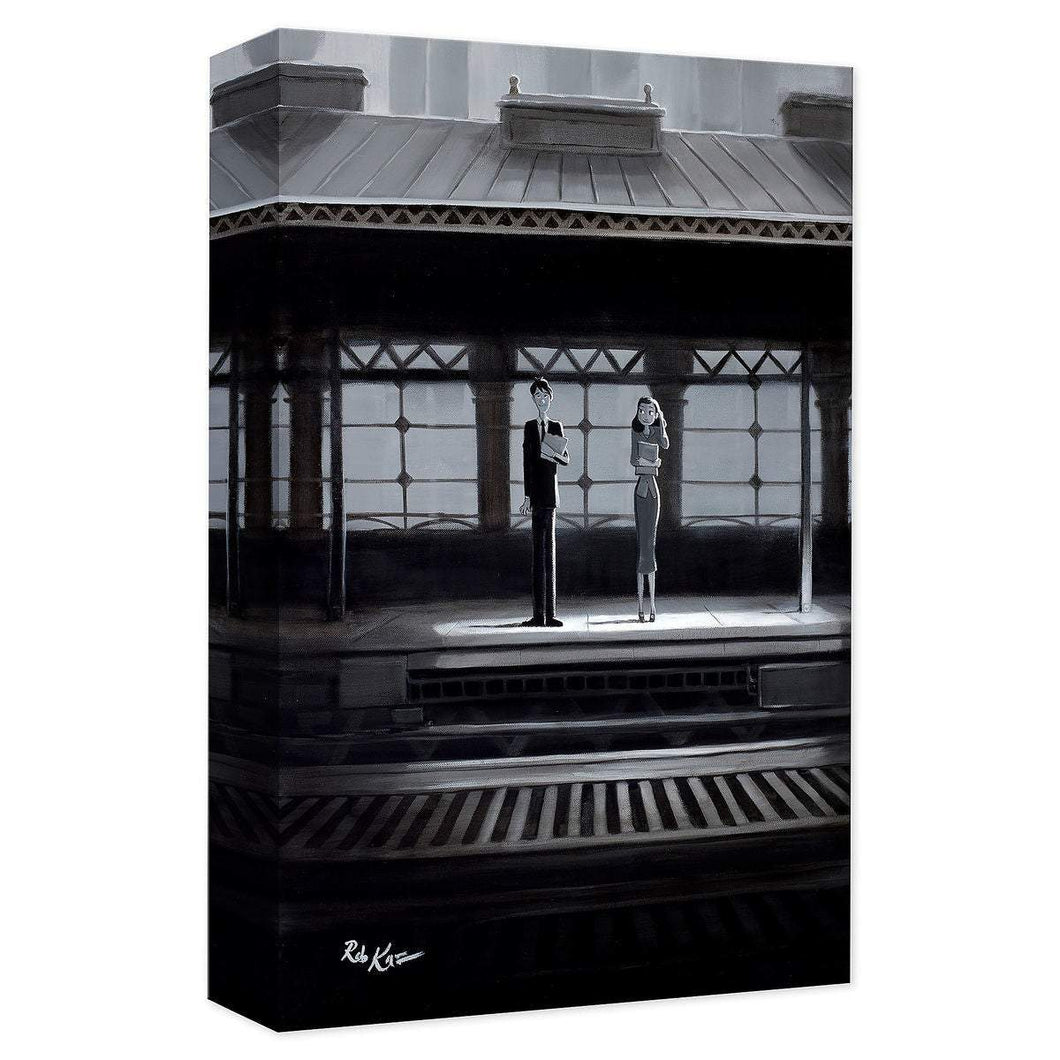 Paperman ''The Meet Cute'' by Rob Kaz, Giclée on Canvas, Disney Treasure