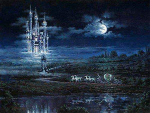 Moonlit Castle by Rodel Gonzalez (fine art poster)