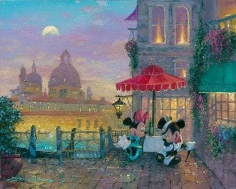 Mickey and Minnie in Venice by James Coleman (fine art poster), Disney
