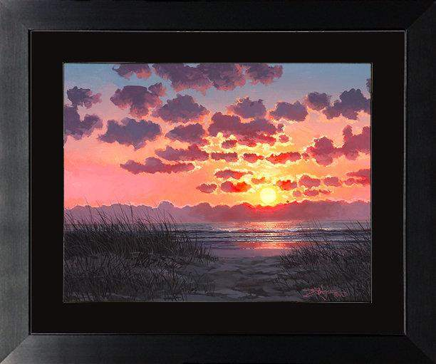 Florida Sunset Memories by Rodel Gonzalez (framed fine art paper)