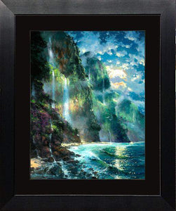 Mystical Napali Moon by James Coleman (framed fine art on paper)