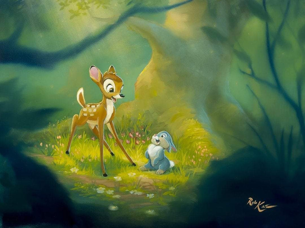 Playtime In The Forest by Rob Kaz (fine art poster), Disney