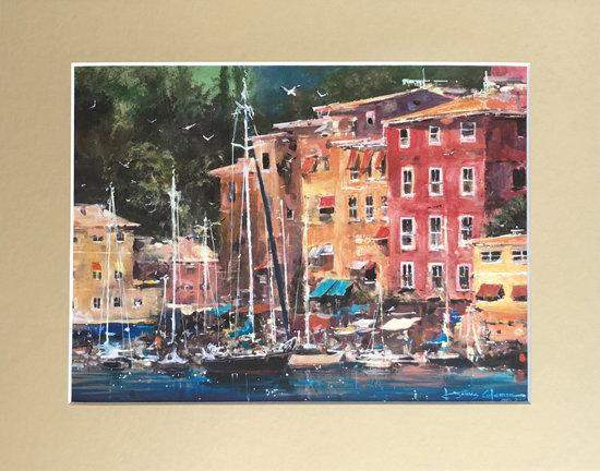 Portofino Afternoon by James Coleman (matted print)