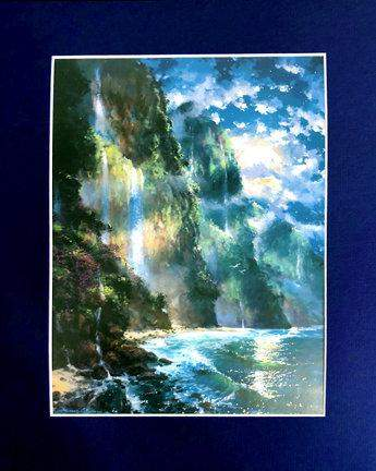 Mystical Napali Moon by James Coleman (matted print)