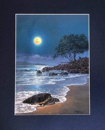Honu By The Sea by Rodel Gonzalez (matted print)