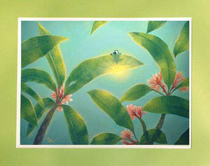 Plumeria by Rob Kaz (matted print)