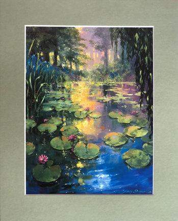 Giverny by James Coleman (matted print)
