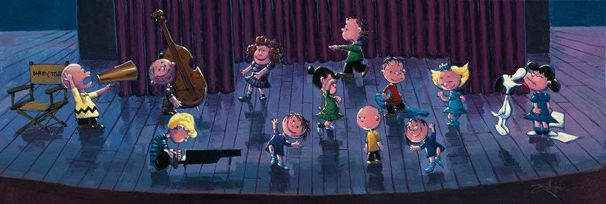 Stop The Music by Rodel Gonzalez (giclee on paper), Peanuts