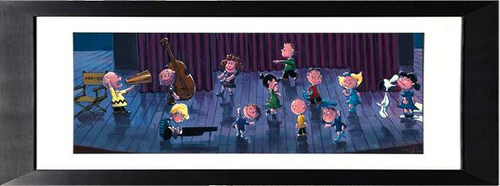 Stop The Music by Rodel Gonzalez (framed giclee on paper), Peanuts