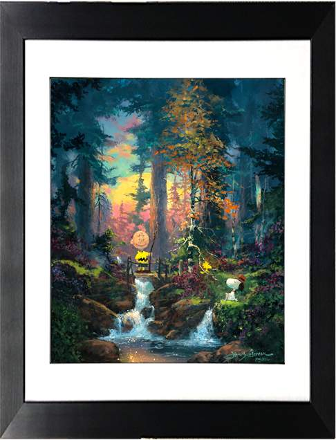 Sanctuary In The Woods by James Coleman (framed giclee on paper), Peanuts