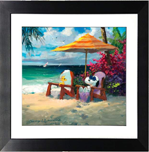 Load image into Gallery viewer, Summer Livin' by James Coleman (framed giclee on paper), Peanuts