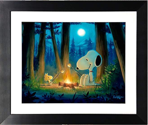 Roughing It by Rob Kaz (framed giclee on paper), Peanuts