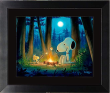 Load image into Gallery viewer, Roughing It by Rob Kaz (framed giclee on paper), Peanuts