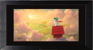 The Dawn Patrol by Rob Kaz (framed giclee on paper), Peanuts