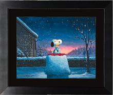 Load image into Gallery viewer, Warm Hugs by Rodel Gonzalez (framed giclee on paper), Peanuts
