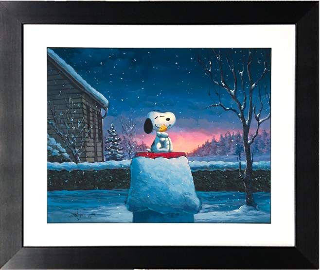 Warm Hugs by Rodel Gonzalez (framed giclee on paper), Peanuts