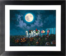 Load image into Gallery viewer, The Great Pumpkin Knows by Rodel Gonzalez (framed giclee on paper), Peanuts
