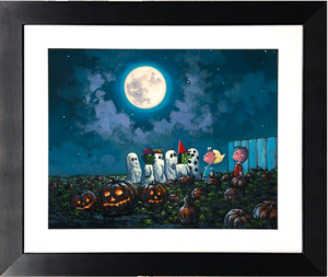 The Great Pumpkin Knows by Rodel Gonzalez (framed giclee on paper), Peanuts