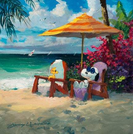 Summer Livin' by James Coleman (giclee on canvas, optional framing), Peanuts