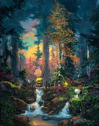 Sanctuary In The Woods by James Coleman (giclee on canvas, optional framing), Peanuts