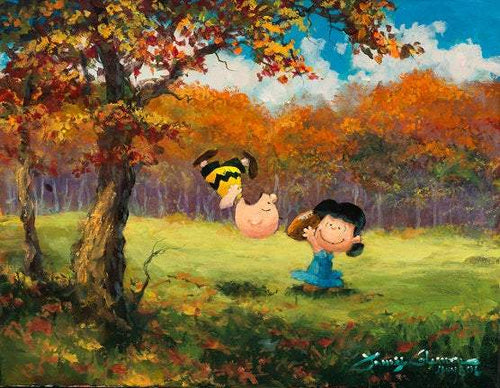 Oops Not Again by James Coleman (giclee on canvas, optional framing), Peanuts