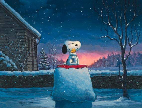Warm Hugs by Rodel Gonzalez (giclee on canvas, optional framing), Peanuts