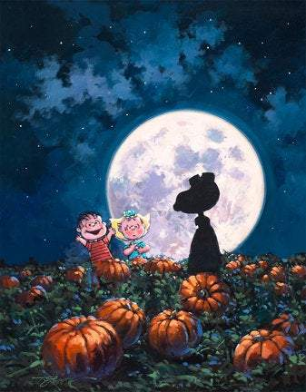 It's The Great Pumpkin! by Rodel Gonzalez (giclee on canvas, optional framing), Peanuts