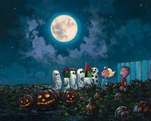 Load image into Gallery viewer, The Great Pumpkin Knows by Rodel Gonzalez (giclee on canvas, optional framing), Peanuts