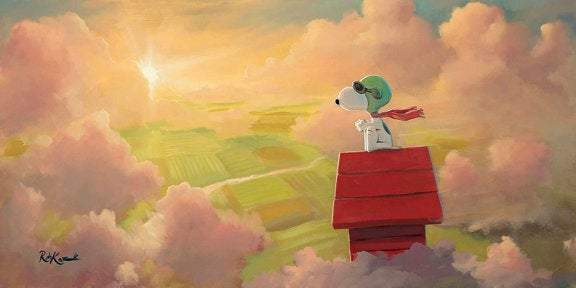The Dawn Patrol by Rob Kaz (giclee on canvas, optional framing), Peanuts