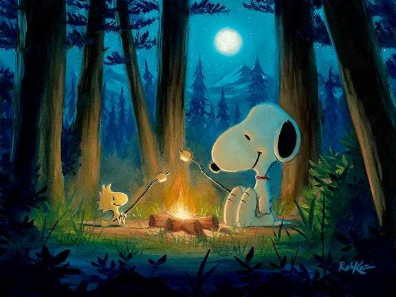 Roughing It by Rob Kaz (giclee on canvas, optional framing), Peanuts