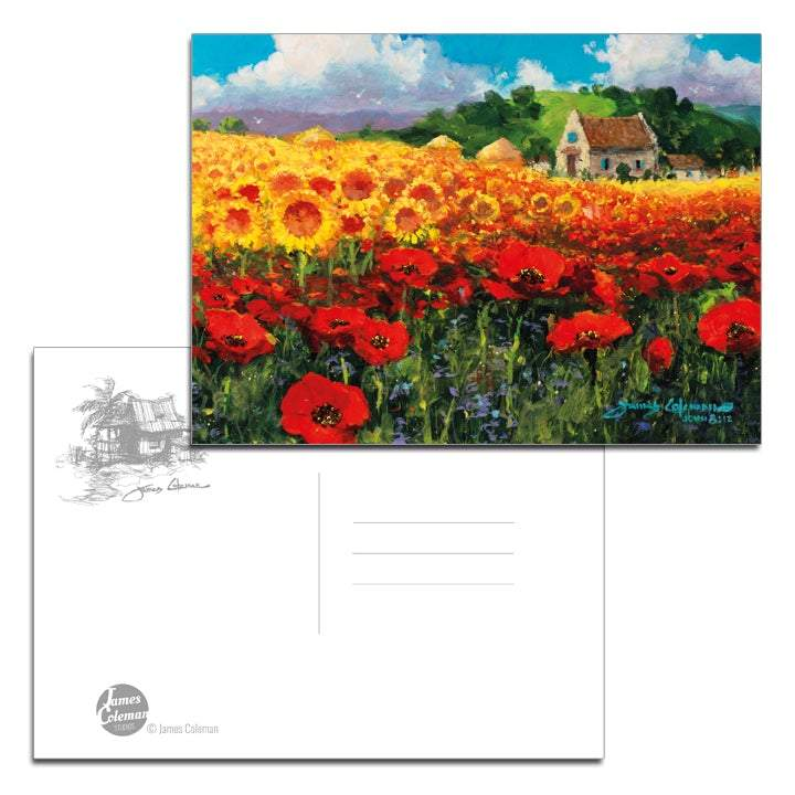 Field Of Gold by James Coleman (postcard)