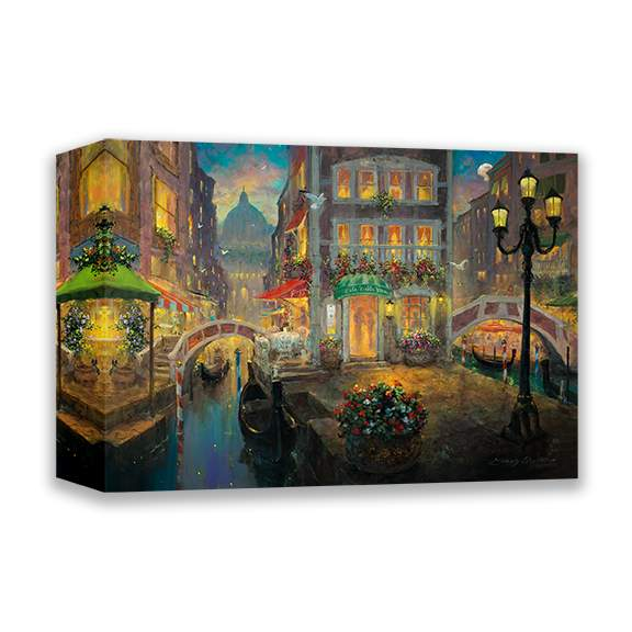 Finding Love In Venice by James Coleman (wrapped canvas collectible)