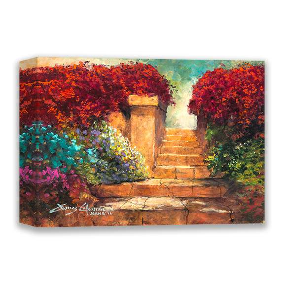 Garden Steps by James Coleman (wrapped canvas collectible)