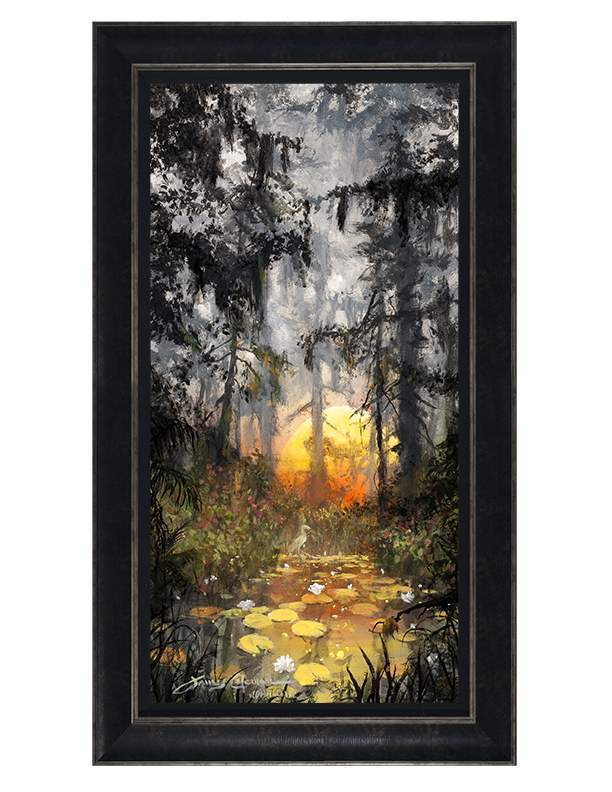 Golden Glow by James Coleman (framed LE canvas giclee)