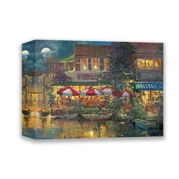 Harbor Cafe by James Coleman (wrapped canvas collectible)