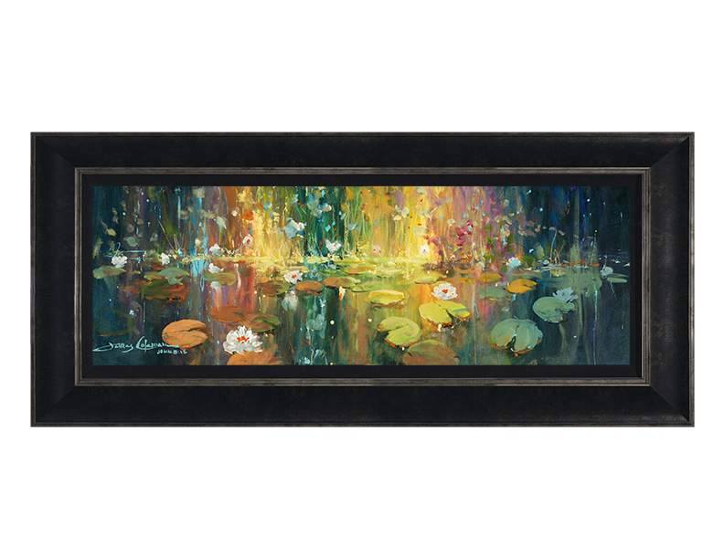 Majestic Pond by James Coleman (framed canvas giclee)