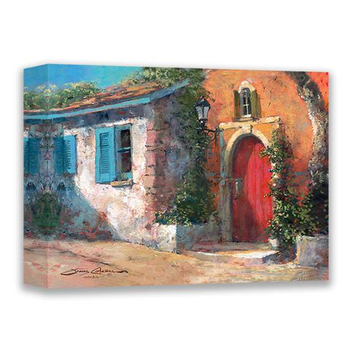 Red Door by James Coleman (wrapped canvas collectible)