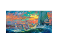 Load image into Gallery viewer, Regatta by James Coleman (framed canvas giclee)