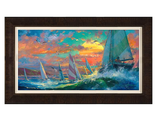 Regatta by James Coleman (framed canvas giclee)