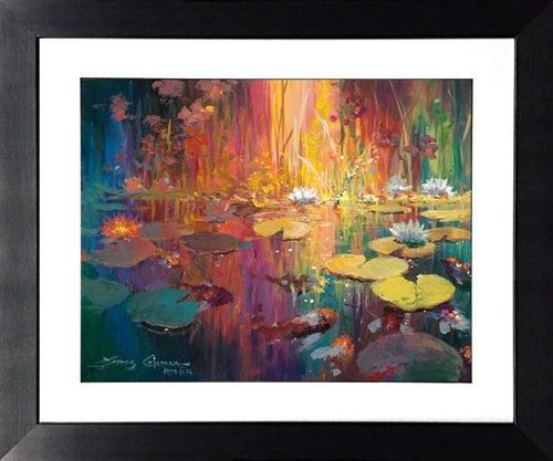 Soft Light on the Pond by James Coleman (framed fine art on paper)