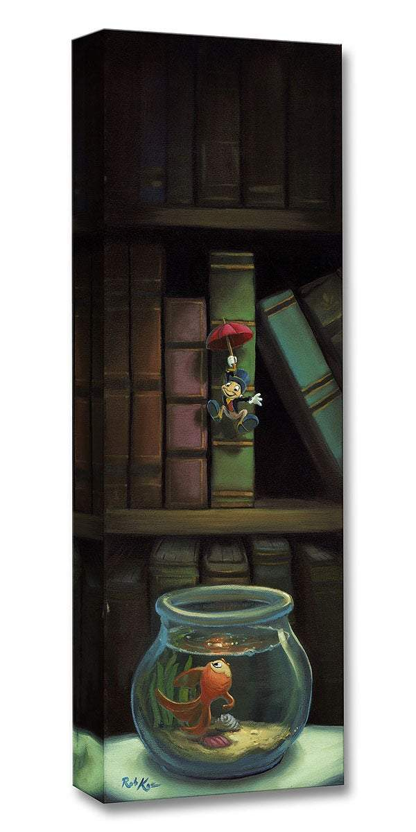 ''Dropping In'' by Rob Kaz, Giclée on Canvas, Disney Treasure, Pinocchio