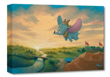 Load image into Gallery viewer, ''Flight Over the Big Top'' by Rob Kaz, Giclée on Canvas, Disney Treasure, Dumbo