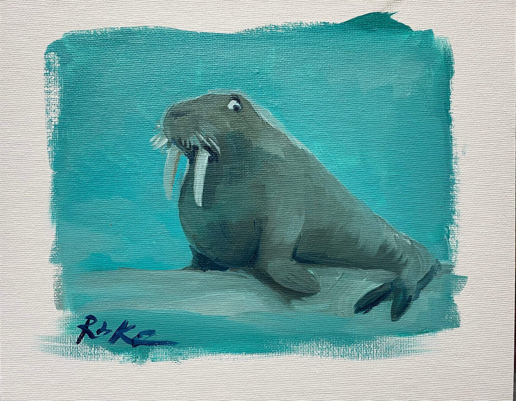 Untitled Original Study by Rob Kaz (Walrus)