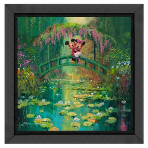 Mickey and Minnie in Giverny by James Coleman (fine art poster)