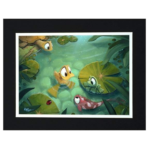 Gathering Pond by Rob Kaz (matted print)