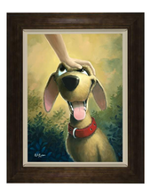 Load image into Gallery viewer, Good Dog by Rob Kaz (framed LE canvas giclee)