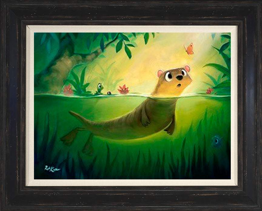 Hello Otto by Rob Kaz (framed canvas giclee)